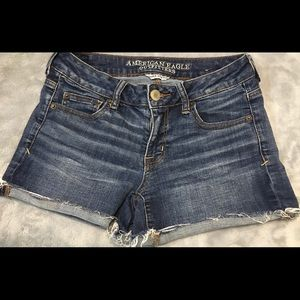 American Eagle Jean Shorts Short S Stretch Size 4